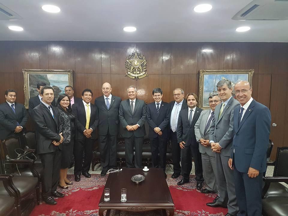 Reunião com o Senador Renan Calheiros e Ministro Osmar Terra - 19 de Outubro