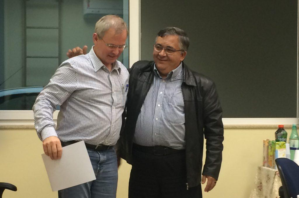 Rolf Hartmann (à esquerda) e Adalberto Calmon (à direita).