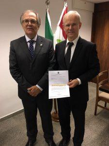 Senador Dalírio Beber e Rolf Hartmann